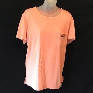 PINK orange logo tee